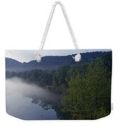 River Flowing In A Forest Weekender Tote Bag