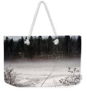 River Ice And Steam Weekender Tote Bag