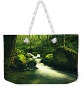 River In A Green Forest Weekender Tote Bag