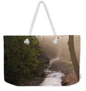 River In Afternoon Sunhaze  Weekender Tote Bag