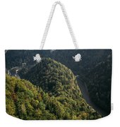 River In Forest Mountains Weekender Tote Bag