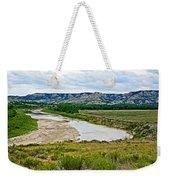 River Landscape In Northwest North Dakota  Weekender Tote Bag