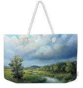 River Landscape Spring After The Rain Weekender Tote Bag by Katalin Luczay
