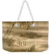 River Landscape With Fireflies  Weekender Tote Bag