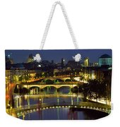 River Liffey Bridges, Dublin, Ireland Weekender Tote Bag