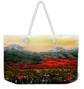 River Of Poppies Weekender Tote Bag