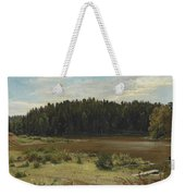 River On The Edge Of A Wood Weekender Tote Bag