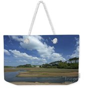 River Otter Estuary,  Budleigh Salterton, Devon, Southwest England, Uk Gb Weekender Tote Bag