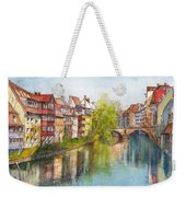 River Pegnitz In Nuremberg Old Town Germany Weekender Tote Bag