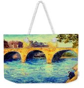 River Seine Bridge Weekender Tote Bag