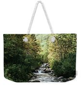 River Stream In Mountain Forest Weekender Tote Bag