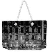 River Street Sweets Candy Store Black White  Weekender Tote Bag