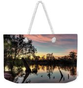 River Sunrise Weekender Tote Bag