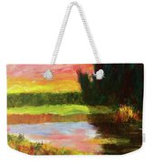 River Sunset Weekender Tote Bag
