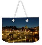 River Tiber And Vatican At Night Weekender Tote Bag