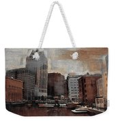 River View Aged Weekender Tote Bag