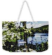 River View Through Flowers. On The Bridge Of Flowers. Weekender Tote Bag