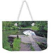 River Wye Weir Weekender Tote Bag
