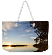 Riverbank Sunset Weekender Tote Bag