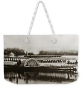 Riverboat  Mayflower Of Plymouth   Susquehanna River Near Wilkes Barre Pennsylvania Late 1800s Weekender Tote Bag