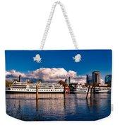 Riverboats Of Sacramento Weekender Tote Bag