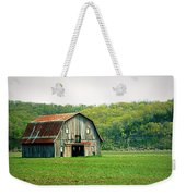 Riverbottom Barn In Spring Weekender Tote Bag