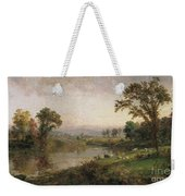 Riverscape In Early Autumn Weekender Tote Bag by Jasper Francis Cropsey