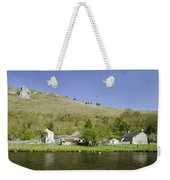 Riverside Setting At Monsal Dale Weekender Tote Bag
