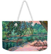Riverview At Dusk Weekender Tote Bag