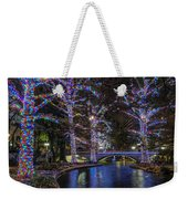 Riverwalk Christmas Weekender Tote Bag