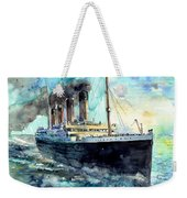 Rms Titanic White Star Line Ship Weekender Tote Bag