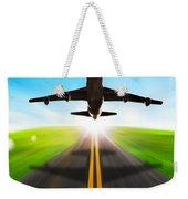Road And Plane Weekender Tote Bag