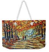 Road Of Life  Fine Art Weekender Tote Bag