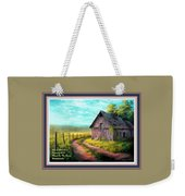 Road On The Farm Haroldsville L A With Decorative Ornate Printed Frame.  Weekender Tote Bag