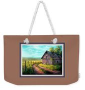 Road On The Farm Haroldsville L B With Alt. Decorative Ornate Printed Frame.   Weekender Tote Bag