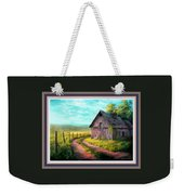 Road On The Farm Haroldsville L B With Decorative Ornate Printed Frame. Weekender Tote Bag