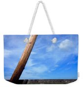Road Side View Of Countryside Weekender Tote Bag