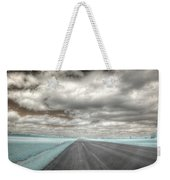 Road Sky Infrared Clouds Landscape Open Road Travel Path Road Trip Weekender Tote Bag