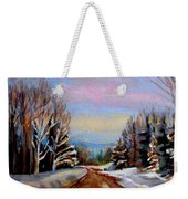 Road To Knowlton Quebec Weekender Tote Bag