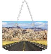 Road To Owl Creek Mountains Wyoming Weekender Tote Bag