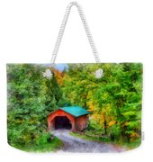 Road To The Covered Bridge Weekender Tote Bag