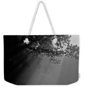 Road With Early Morning Fog Weekender Tote Bag