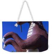 Roadside Dinosaur Weekender Tote Bag