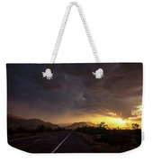 Roadside Sunset  Weekender Tote Bag
