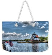 Roanoke River Lighthouse No. 2a Weekender Tote Bag