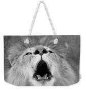 Roar  Black And White Weekender Tote Bag