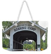 Roaring Camp Covered Bridge Weekender Tote Bag
