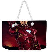 Robert Downey Jr. As Iron Man  Weekender Tote Bag