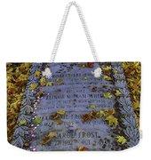 Robert Frosts Grave Weekender Tote Bag