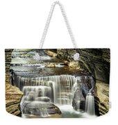 Robert H. Treman State Park Gorge Upper Falls Weekender Tote Bag